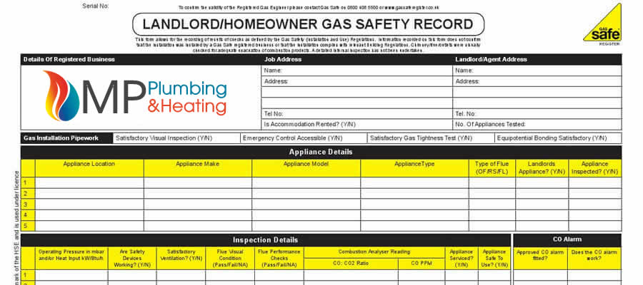 gas safety certificate Surrey